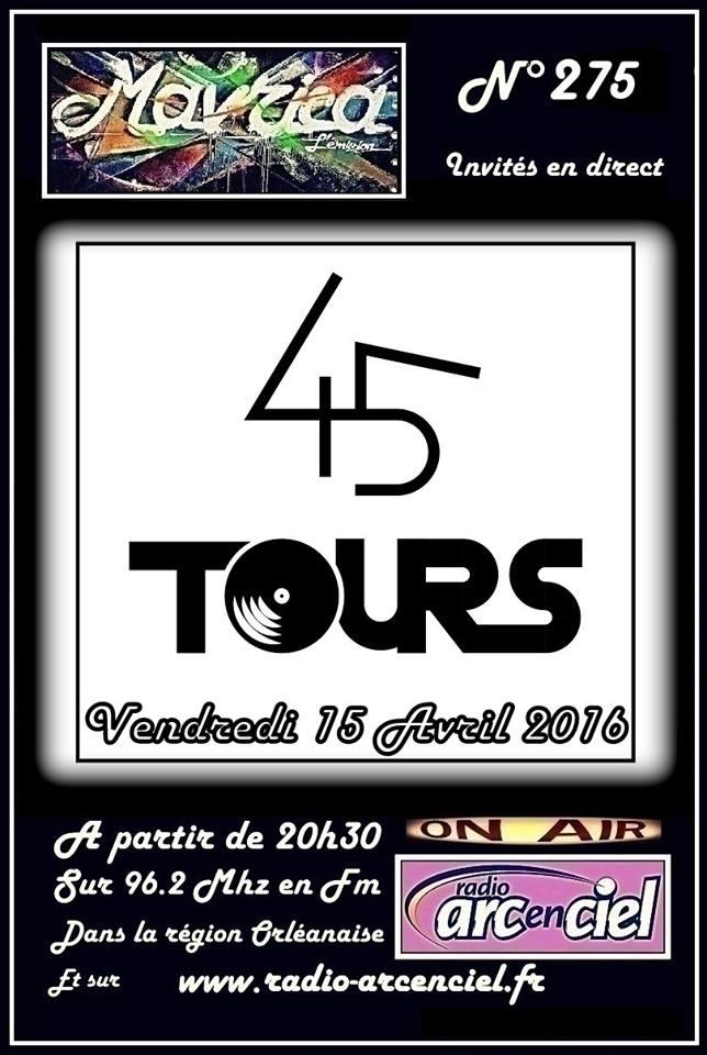 """15 avril 2016 45 tours à Fleury les Aubrais """"Mavrica"""""""