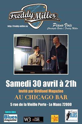 "30 avril 2016 Freddy Miller à Le Mans ""Au Chicago Bar"""