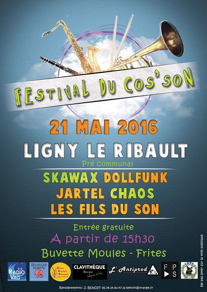 21 mai 2016 Skawax, Dollfunk, Jartel, Chaos, Les Fils du son à Ligny le Ribault