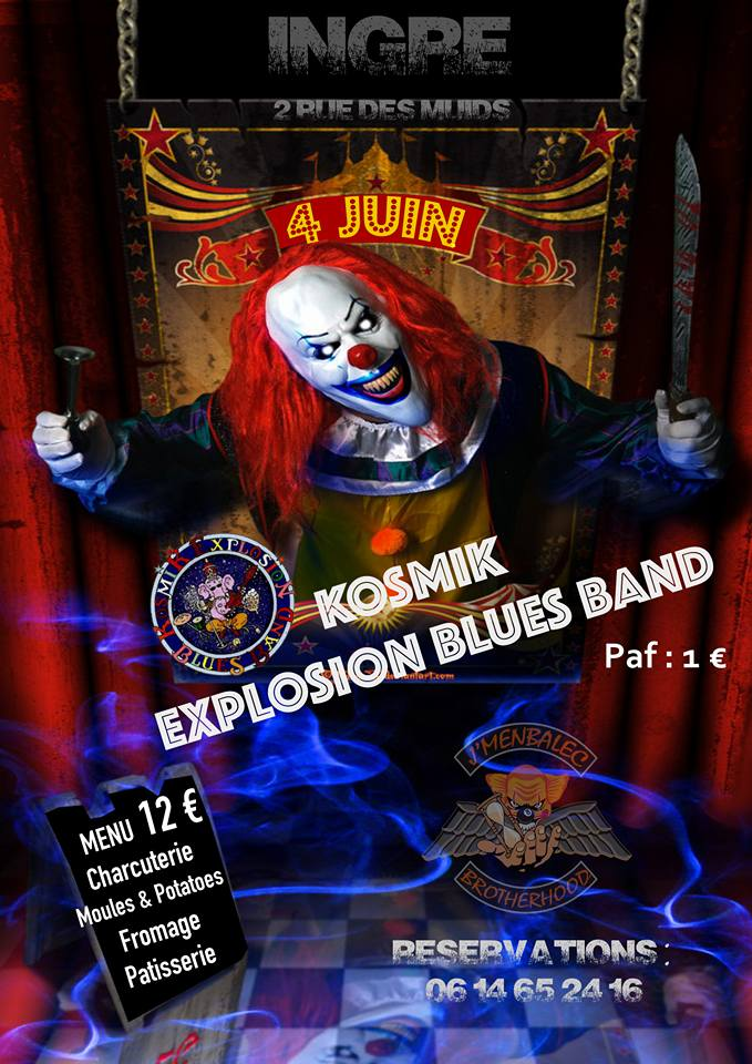 "4 Juin 2016 Kosmik Explosion Blues Band à Ingré ""Local J'menbaleck"""