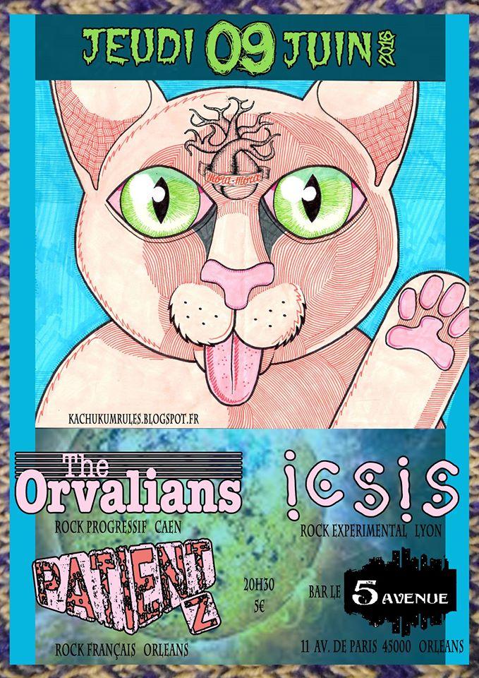"""9 juin 2016 Patient Z, ICSIS, The Orvalians à Orléans """"5ème Avenue"""""""