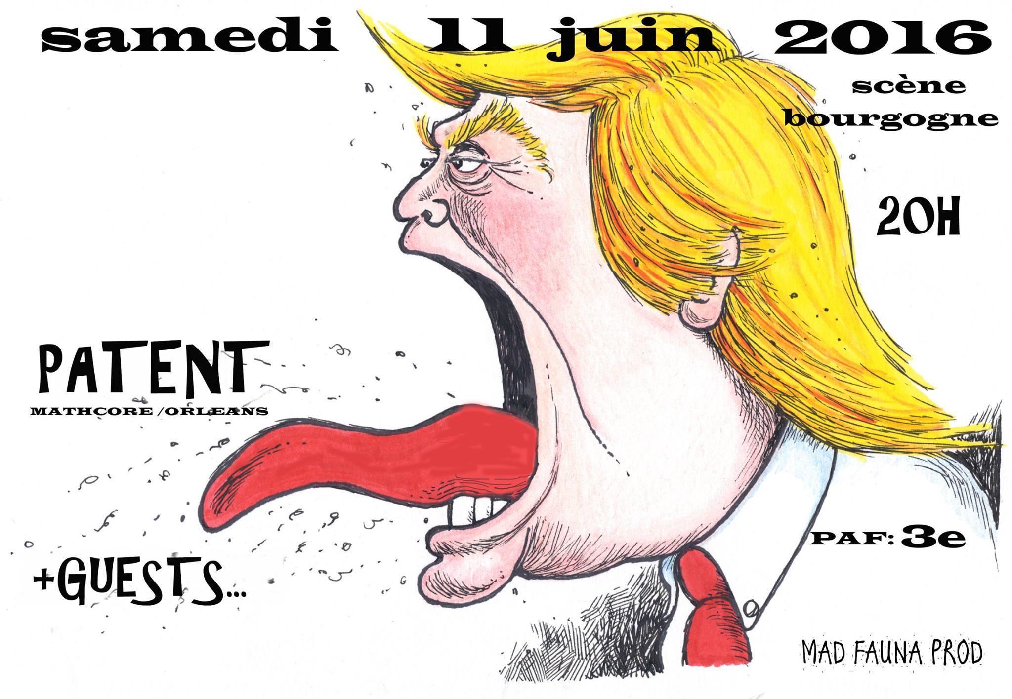 """11 Juin 2016 Psycho Turick, Bad Sheeps, Patent à Orléans """"La Scène Bourgogne"""""""