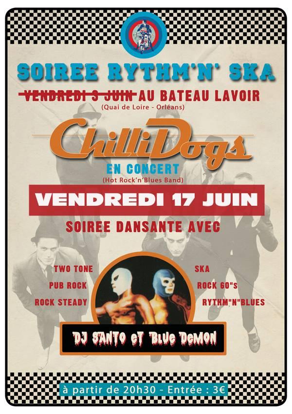 """17 juin 2016 Chillidogs à Orléans """"Bateau Lavoir"""""""