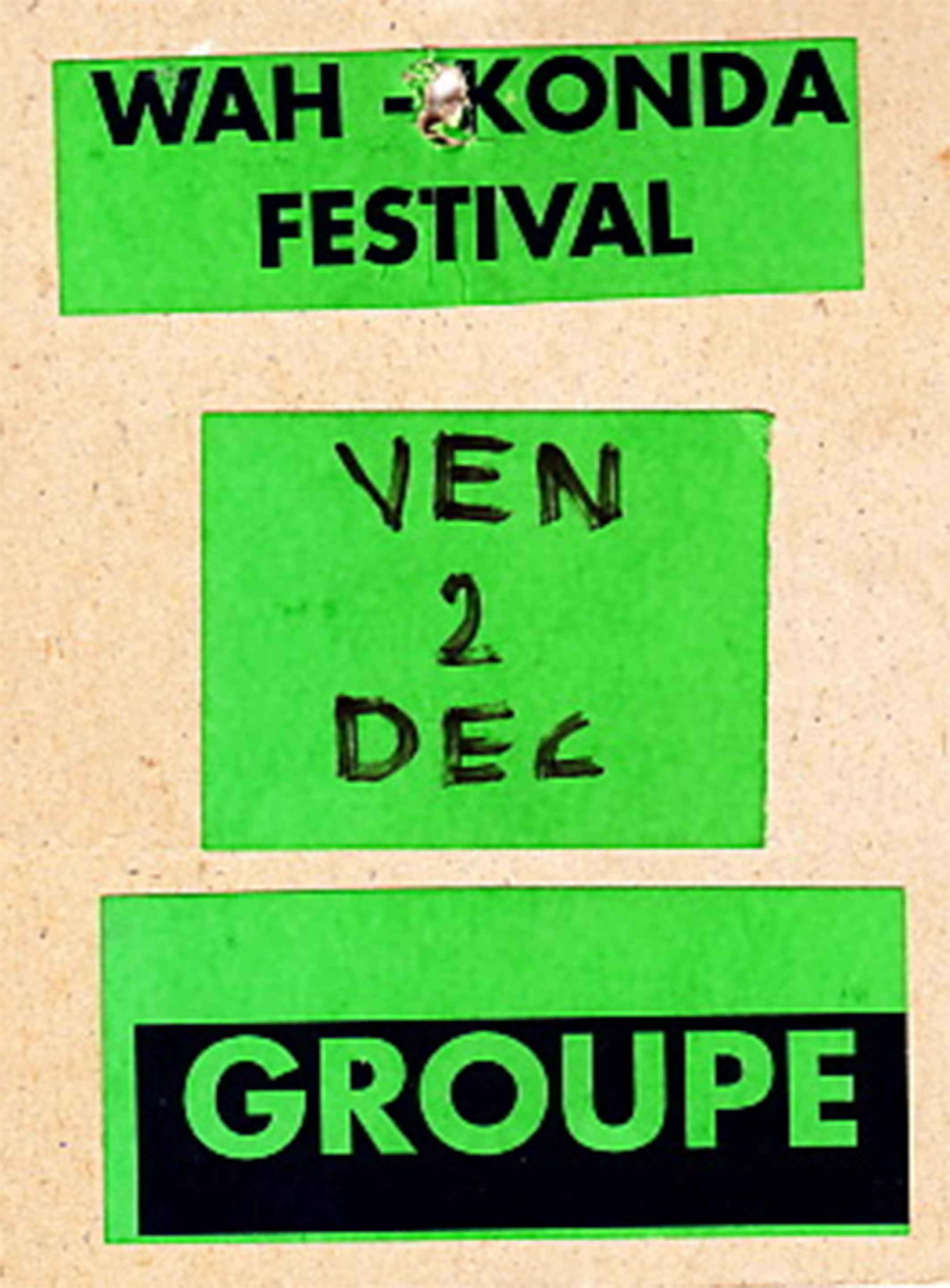 """2 décembre 1994 Mush, Cop Shout Cop (annulé), Near Death Experience, Burning Heads Le Mans """"Le Royal"""""""