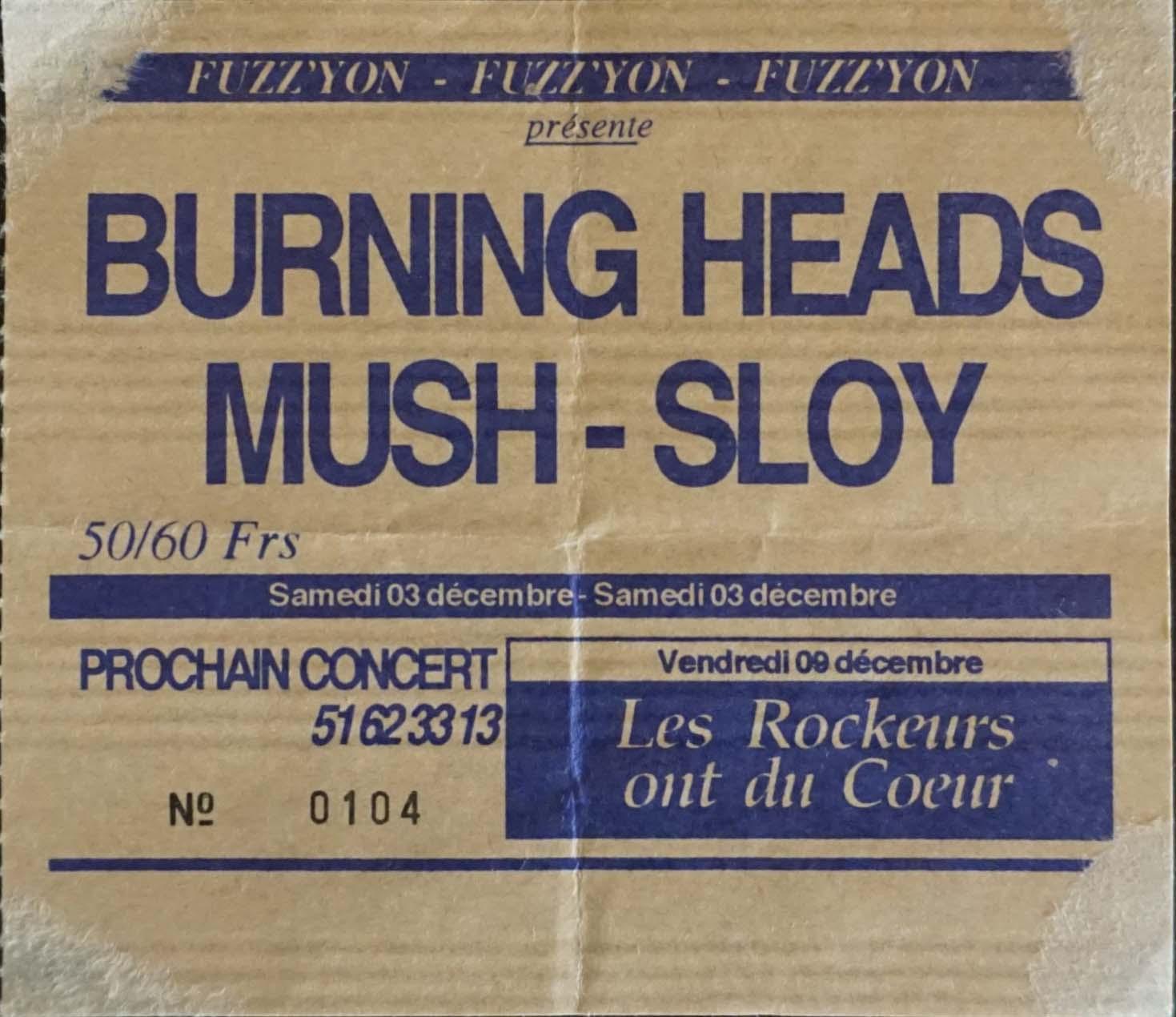 3 Décembre 1994 Sloy, Mush, Burning Heads à La Roche sur Yon