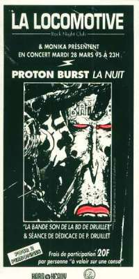 "28 mars 1995 Proton Burst à Paris ""La Locomotive"""