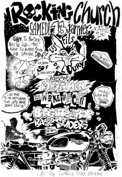13 janvier 1996 Magixmen, Wake Up Call, Brigitte Bop, Backsliders à Orleans