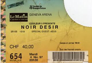 """4 Février 1997 Noir Désir à Genève """"Arena"""""""