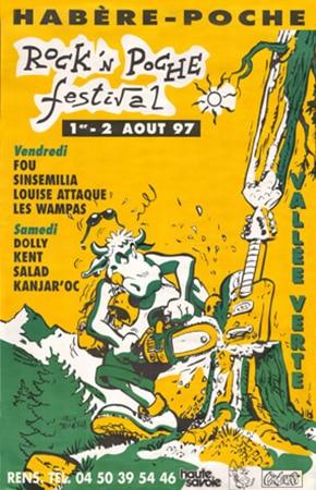 1er Aout 1997 Fou, Louise Attaque, Sinsemilia, les Wampas à Habere Poche