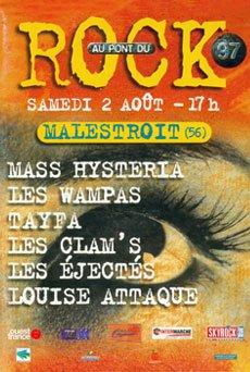 2 aout 1997 Les Clam's, Tayfa, Les Ejectés, Louise Attaque, Mass Hysteria, les Wampas à Malestroit