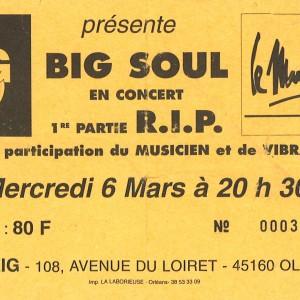 "6 mars 1998 RIP, Big Soul à Olivet ""Le Zig"""