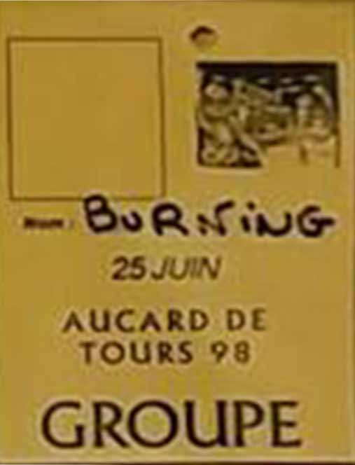 25 juin 1998 Marcem, Burning Heads à Tours