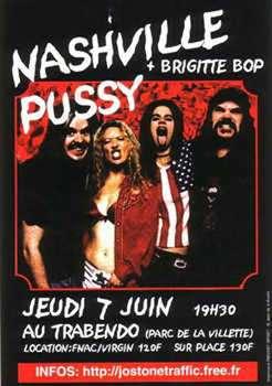 """7 juin 2001 Brigitte Bop, Nashville Pussy à Paris """"Le Trabendo"""""""