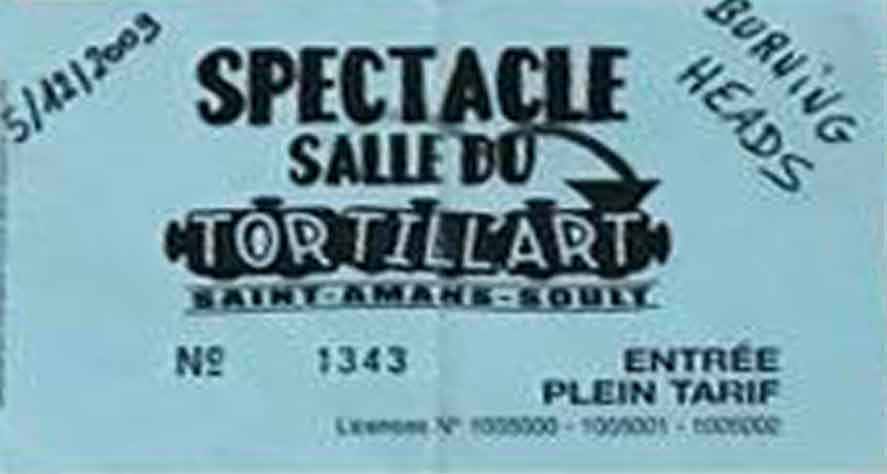 """5 décembre 2009 Burning Heads, La Fille De Tes Rêves, B Sides à Saint Amans Soult """"Tortill'art"""""""