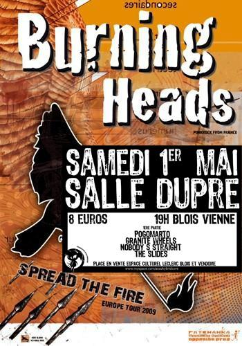 "1er mai 2010 The Slides, Nobody's Straight, Granite Wheels, Pogomarto, Burning Heads à Viennes ""Salle Dupré"""