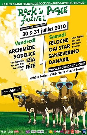 30 Juillet 2010 Archimede, Yodelice, Izia, Fefe, The Capucines, Madame Olga, Arpad Flynn, Milz à Habere Poche