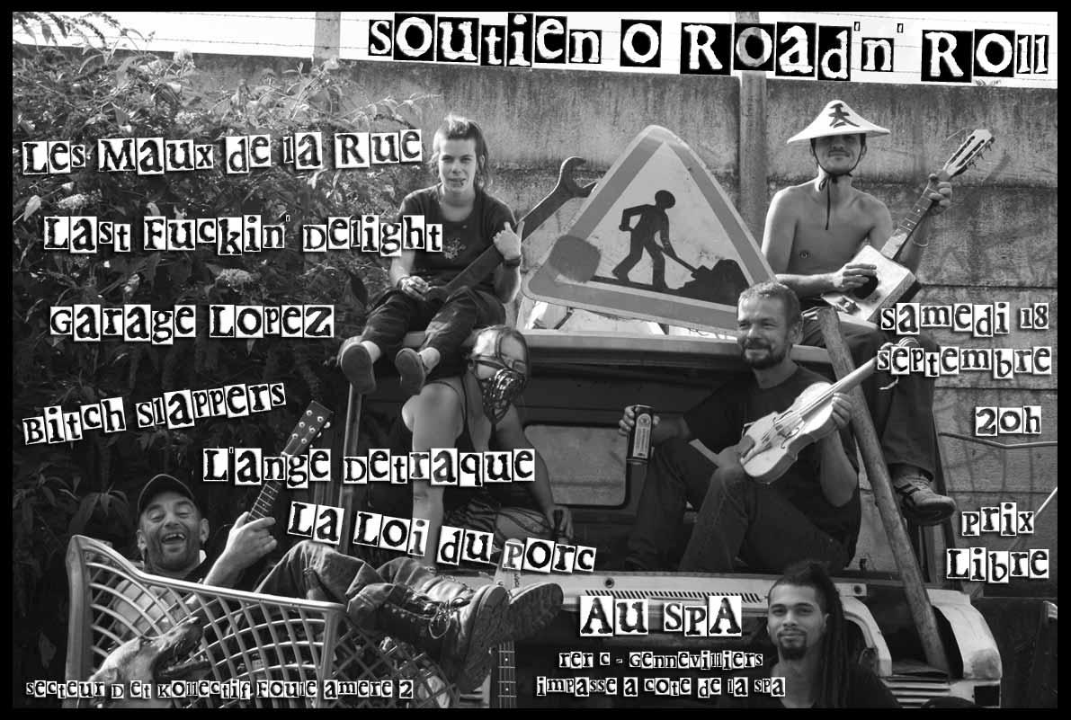 """18 septembre 2010 Garage Lopez, les Maux de la Rue, Last Fuckin Delight, Bitches Slappers, L'Ange Détraqué, La Loi du Porc à Gennevilliers """"le Spa"""""""