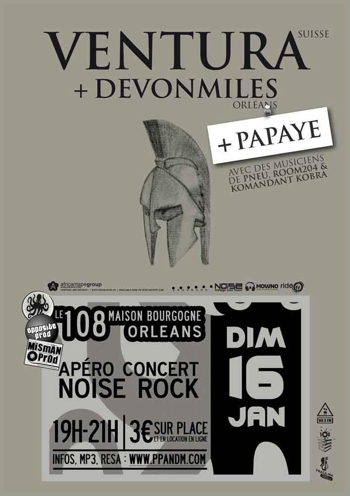 """16 janvier 2011 DevonMiles, Papaye, Ventura à Orléans """"le 108"""""""