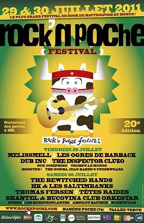 30 juillet 2011 The Bewitched Hands, Hk & les Saltimbanks, Thomas Fersen, Tetes Raides, Shantel & Bucovina Club Orkestrar, Lyikso, Les Monstroplantes, Absolut Bacchus, Monkypolin à Habere Poche