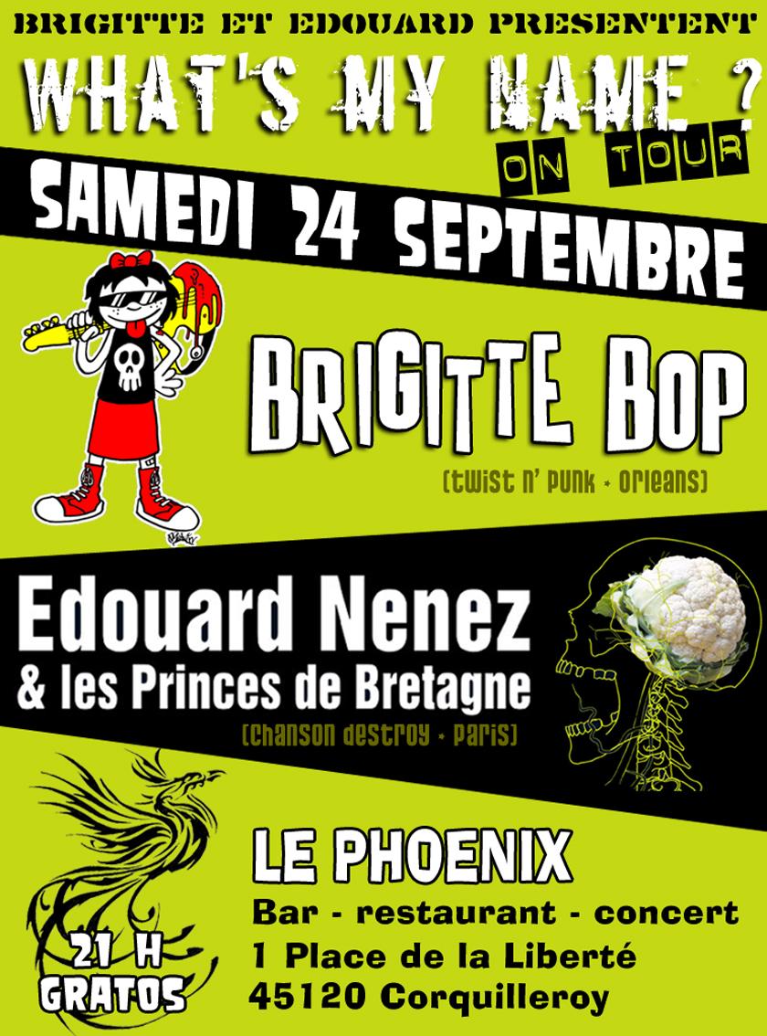 """24 septembre 2011 Brigitte Bop, Edouard Nenez et les Princes de Bretagne à Corquilleroy """"le Phoenix"""""""