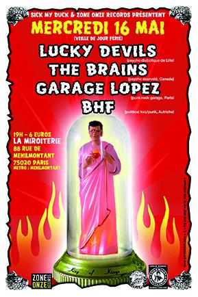 """16 mai 2012 Lucky Devils, The Brains, Garage Lopez, BHF à Paris """"La Miroiterie"""""""