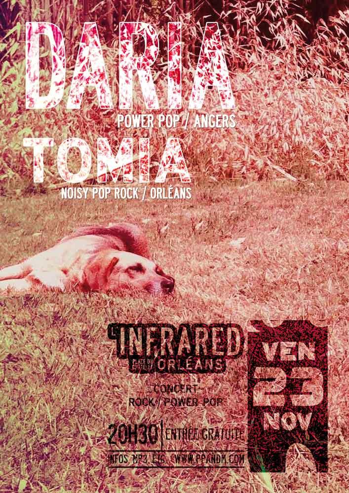 23 novembre 2012 Daria, Tomia à Orléans « Infrared »
