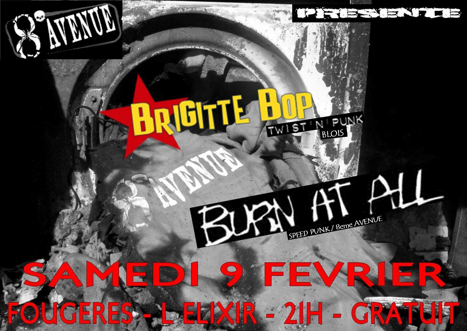 """9 février 2013 Brigitte Bop, Burn At All à Fougères """"Elixir"""""""