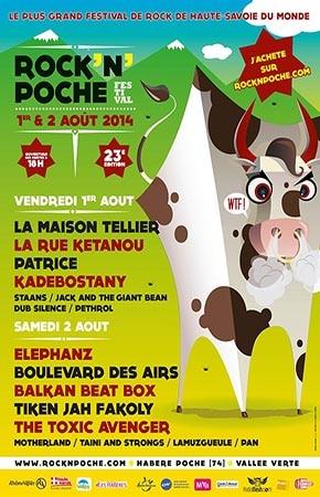 1er aout 2014 La Maison Tellier, La Rue Ketanou, Patrice, Kadebostany, Staans, Jack and The Giant Bean, Dub Silence, Pethrol à Habere Poche