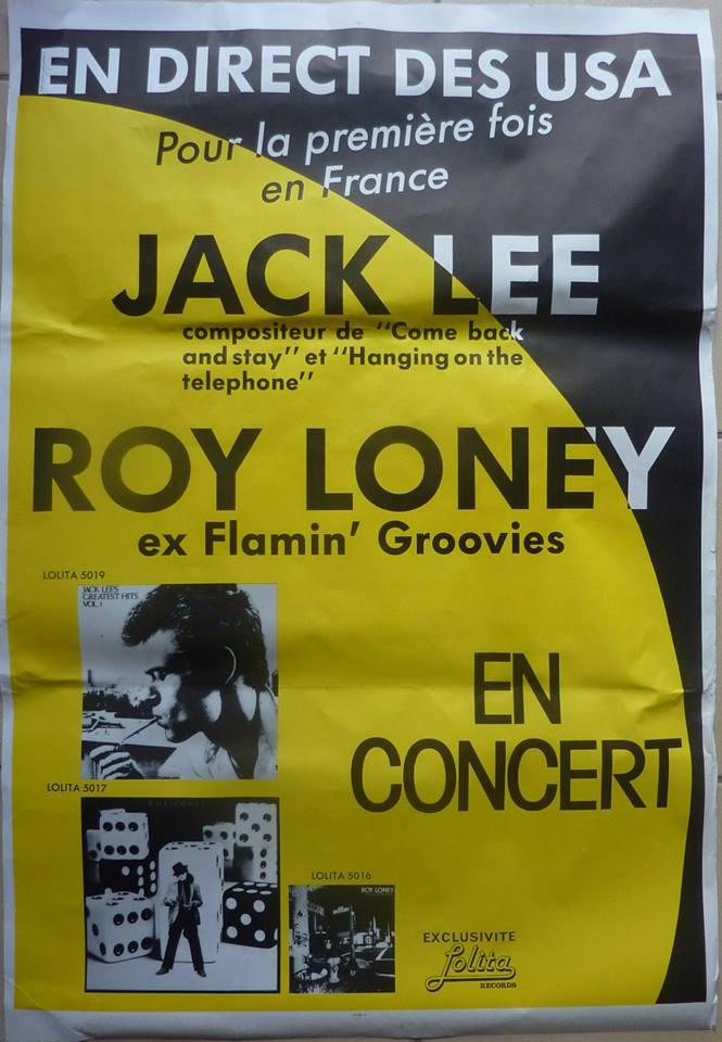 """14 février 1985 Jack Lee, Roy Loney à Olivet """"le Zig Zag"""""""