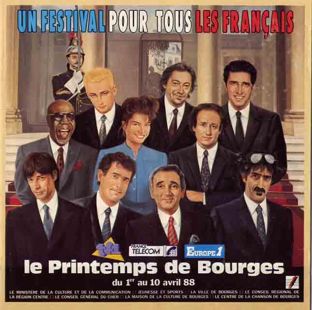 4 Avril 1988 Dyplomatic, Dimsy Comedi, Crabs, Los Mescaleros, les Kakous, the Wild Ones, les Wampas à Bourges