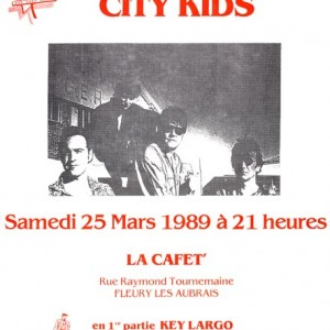 """25 mars 1989 Key Largo, City Kids à Fleury les Aubrais """"La Cafet"""""""