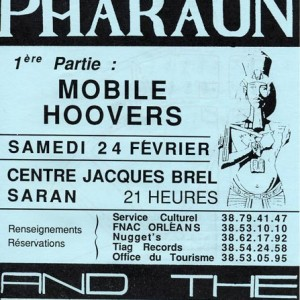 24 Février 1990 The Mobile Hoovers, Kid Pharaon and the Mercenaries