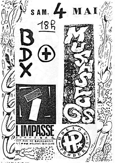 "4 mai 1991 BDX, Mushlugs à Orléans ""L'impasse"""