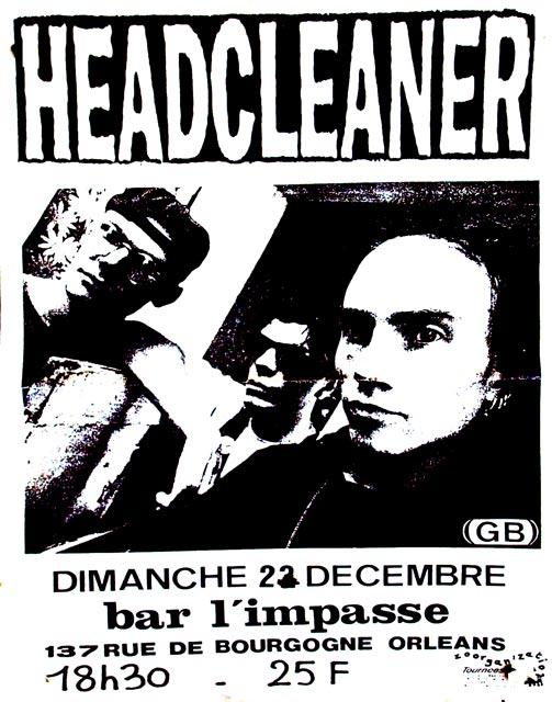 """22 Décembre 1991 Headcleaner à Orléans """"L'impasse"""""""
