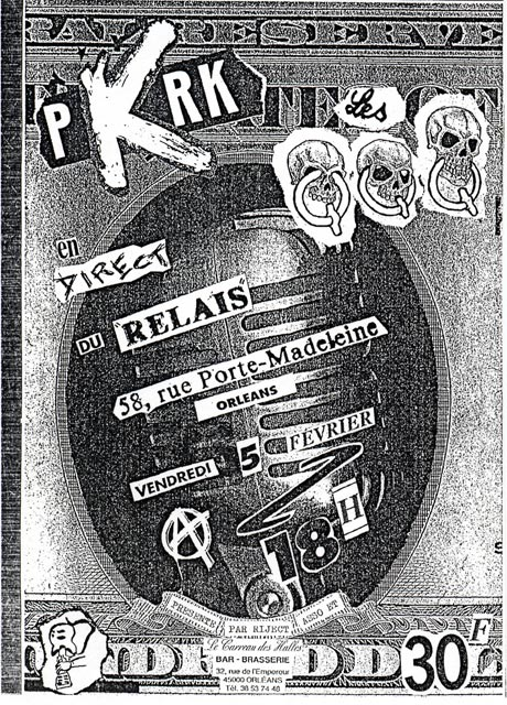 """5 février 1993 QQQ, PKRK à Orléans """"le Relais"""""""