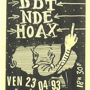 """23 avril 1993 DDT, Near Death Experience, Hoax à Saint Jean de la Ruelle """"Salle des Fetes"""""""