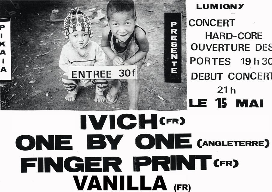 15 mai 1993 Vanilla, Finger Print, One By One, Ivich à Lumigny