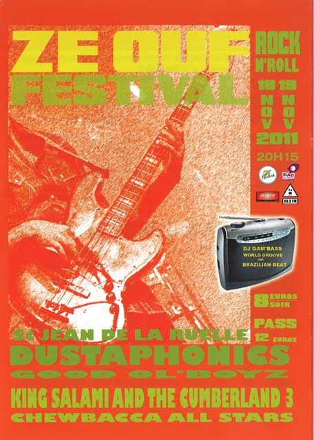 """18 novembre 2011 Good Old Boyz, the Dustaphonics à Saint Jean de la Ruelle """"Salle des Fetes"""""""
