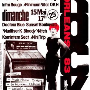 "14 mai 1983 Infra Rouge, Minimum Vital, Key Largo, OKH, Les privés, Next Way - Orléans ""Salle du Baron"""