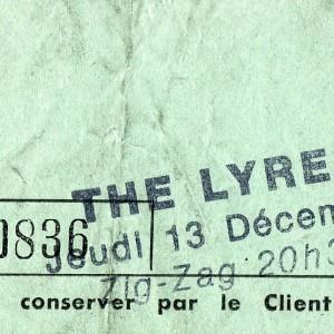 "13 decembre 1984 Psychedelic Kleps, the Lyres à Olivet ""Le Zig Zag"""