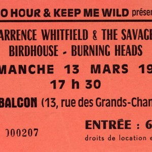 "13 mars 1988 Burning Heads, Birdhouse, Barrence Whitfield & the savages - Orléans ""Le Balcon"""