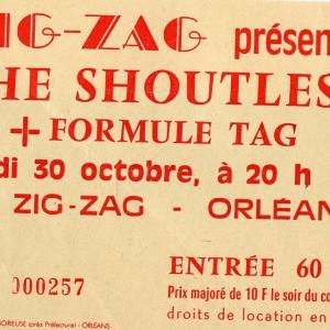 """30 octobre 1986 Formule Tag, the Shoutless à Olivet """"le Zig Zag"""""""