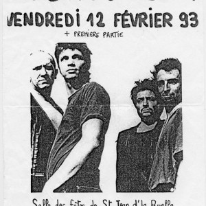 """12 Février 1993 Shredded Ermines, Noir Desir à Saint Jean de la Ruelle """"Salle des fetes"""""""