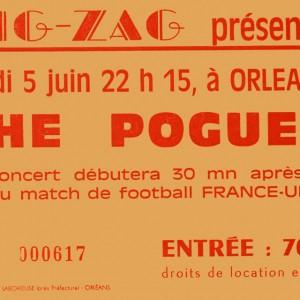 """5 juin 1986 Nyah Fearties, the Pogues à Olivet """"Le Zig Zag"""""""
