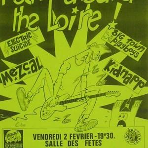 """2 Février 1990 Electric Suicide, Mezcal, Big Town Playboy, Kidnap à Saint Jean de la Ruelle """"Salle des Fêtes"""""""