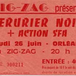 """26 juin 1986 Action SFA, Berurier Noir à Olivet """"Le Zig Zag"""""""