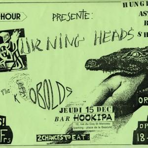 """15 Décembre 1988 Burning Heads, les Kobolds à Orléans """"l'Hookipa"""""""