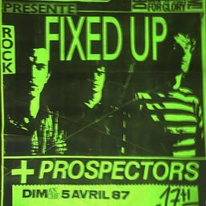 """5 avril 1987 Prospectors, Fixed Up à Orléans """"Alger la Nuit"""""""
