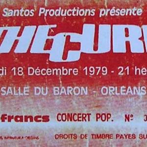 """18 decembre 1979 The Cure à Orléans """"Salle du baron"""""""