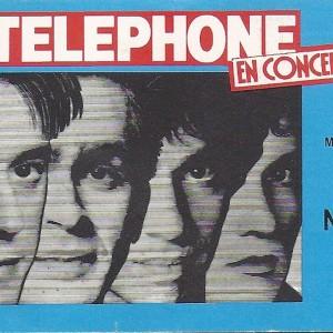 """11 Novembre 1984 Telephone à Orléans """"Chapiteau parking de la Gare"""""""